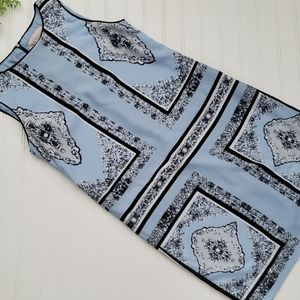 Philosophy Blue Handkerchief Shift Dress sz 6